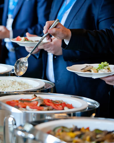 Full service corporate catering village caterers catering for your wedding corporate affair - Round table montgomery village ...